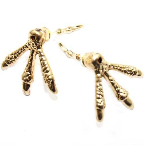 Zehui Retro Style Gothic Punk Fashion Talon Eagle Claw Ear Stud Earring Earrings