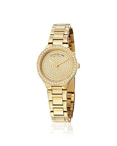 Stuhrling Original Women's 683.03 Symphony Swiss Quartz Crystal Dial Gold Watch