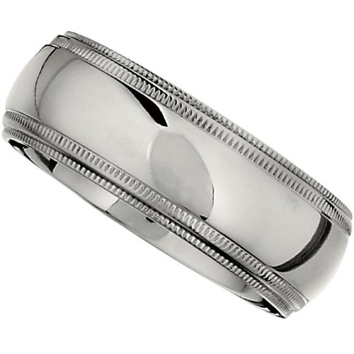 Titanium, Double Millgrain Wedding Band (sz 6)