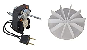 Universal Bathroom Fan Replacement Electric Motor Kit with Fan 115 volts C01575 from Century Electric Motors