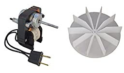 Universal Bathroom Fan Replacement Electric Motor Kit with Fan 115 volts C01575