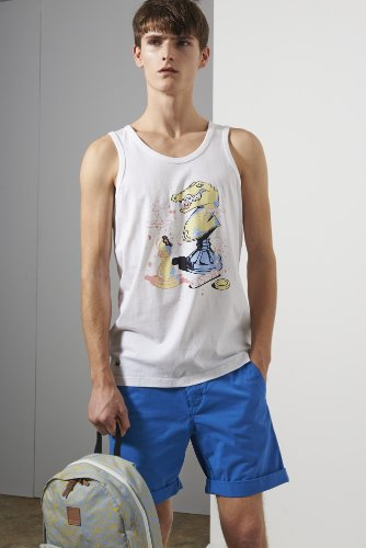 L!ve Cotton Jersey Knightly Graphic Tank Top