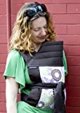 BabyHawk Mei Tai Baby Carrier Roundabout on Espresso Straps with Dainty Baby Reusable Bag Bundle