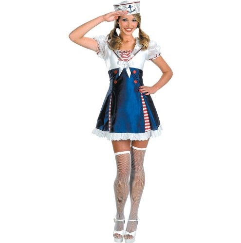Ahoy Matey Adult Costume Sailor Girl Sailor Navy Armed Forces