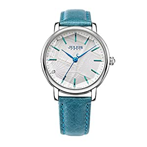 Mirror stereo cutting ladies watch/ dial leather strap quartz watch-A