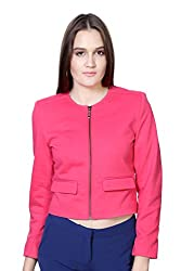 Van Heusen Womens Regular Fit Outerwear_ VWJK515D09306_M_ Pink