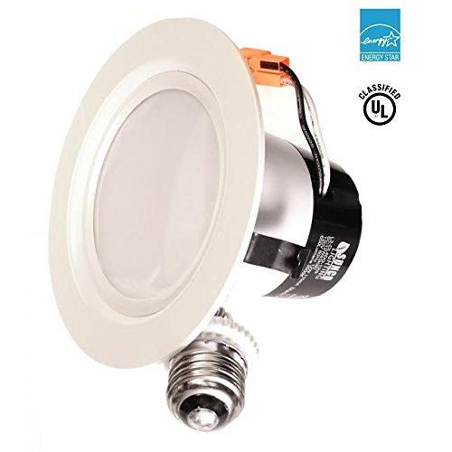 Sunco Lighting 4 Inch LED Recessed Downlight, Smooth Trim, Dimmable, 11W=40W, 3000K Warm White, 600 LM, Wet Rated, Simple Retrofit Installation - UL + Energy Star