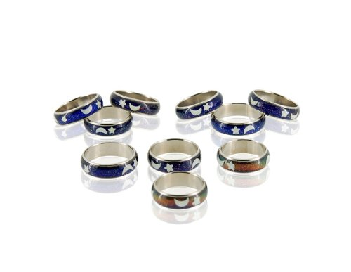 Mood Ring Changes Colors Depending on Your Mood 10-Pack + Worldwide free shiping