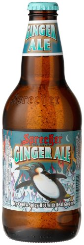 Sprecher GINGER ALE FROM GLENDALE, WISCONSIN IN THE MIDWEST, 16-Ounce Glass Bottle (Pack of 12) (Sprecher Soda compare prices)