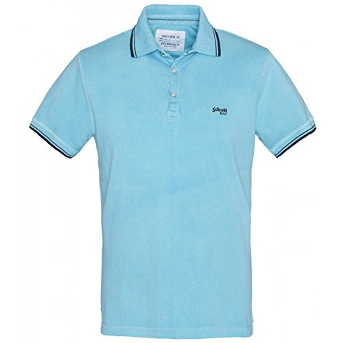 Polo Schott PS Jeffe turchese blu XXL