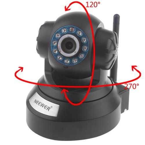Neewer® Plug & Play Pan & Tilt Ip/Network Internet Camera Surveillance Camera W/ Two-Way Audio, Night Vision, Built-In Microphone With Cell Phone Remote Monitoring, Automatic Camera Triggering, Email Alert Snapshot, Video Recording, Baby / Pets Monitor F
