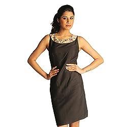 Idiotheory Women's Black Sleeveless Dress( ITWCCWLBD04_M )