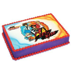 Edible Cake Images Review : Amazon.com: Beyblade Cake Icing Edible Image: Toys & Games