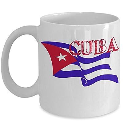 Word Cuba Mug - Cuban Flag Coffee Cup Gift Idea