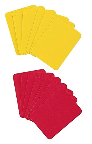 New Champion Sports Soccer Officials Referee 1 RED, 1 YELLOW Penalty CARDS RWCD (Red Card Soccer compare prices)