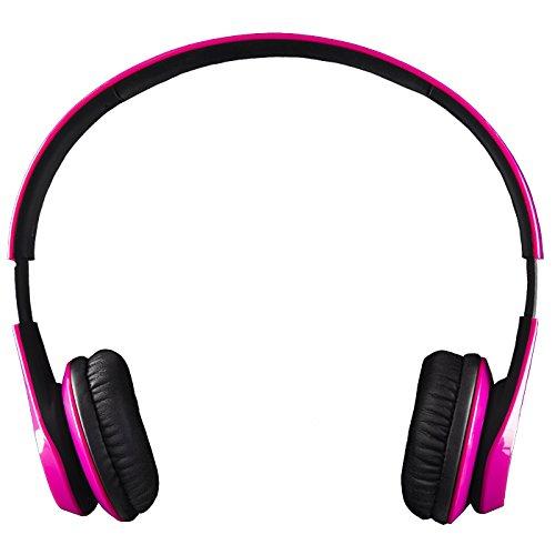 Life N Soul Bn301-Pkb Bluetooth Headphones Pink & Black