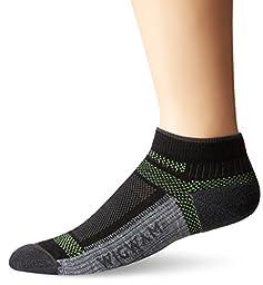Wigwam Men\'s Ultra Cool-Lite Ultimax Ultra-Lightweight Low Sock, Black, Large