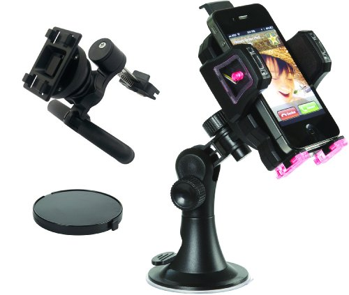 Skiva StrongMount M1 Universal Car Holder/Mount for iPhone 5, 4, 4S, 3G & 3Gs, BlackBerry Torch, HTC EVO, DROID, Samsung Galaxy s2, EPIC on Windshield, Dashboard & AC Vent