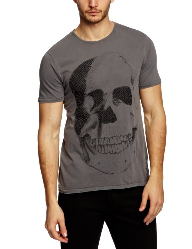 Bolongaro Trevor Stitched Up Printed Men's T-Shirt Charcoal Large