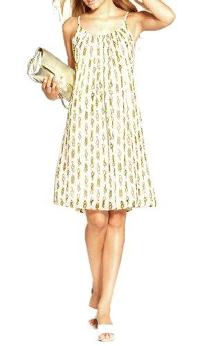 Apart Kleid Abednkleid Chiffon-Babydollkleid, creme-gold Größe 36