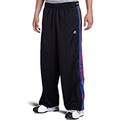 NBA Detroit Pistons Black Blue Digital Panel Pant by Zipway