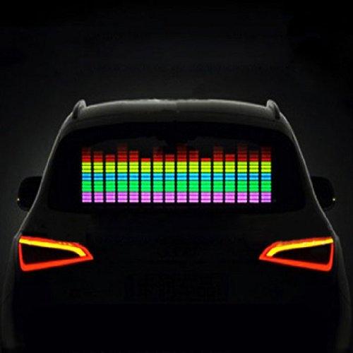 Susenstore 90X10Cm Car Sticker Music Rhythm Led Flash Light Lamp Sound Activated Equalizer