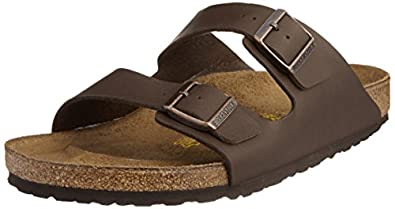 Birkenstock Arizona Birko Flor 51701, Sandales mixte adulte, Marron (Marron Foncé) - 40 (Normal)