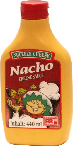Old Fashioned Foods Nacho Squeeze Cheese Microwaveable, 2er Pack (2 x 440 ml)