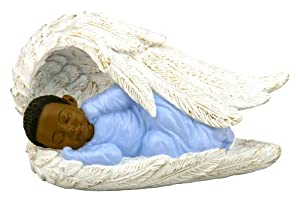 Amazon.com: African-American Baby Boy in Angel Wing: Home ...