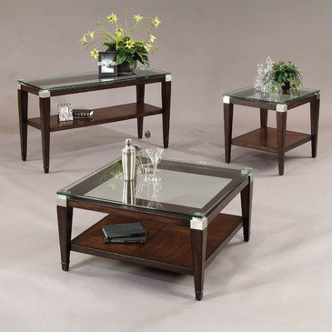 Bassett Mirror T1171 Dunhill Square 3 Piece Coffee Table Set
