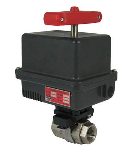 Gemini Valve 1 86-6-Rt-6-615-120Ac-Emk-4-615 86 Series Stainless Steel Ball Valve With 600 Series 120Ac Electric Actuator, 1""