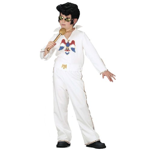 Rock Star White Jumpsuit Costume Child Size