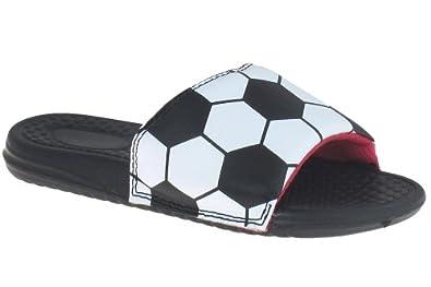 Amazon.com: Capelli New York Soccer Ball Print Girls Slide Sandals