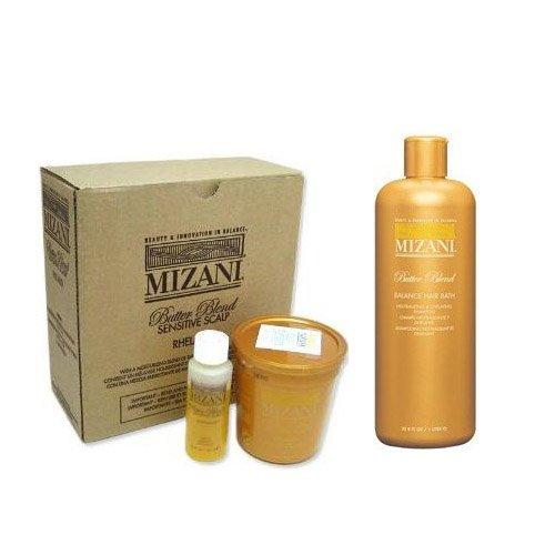 Mizani Butter Blend Relaxer 4 kit + Hair Bath Shampoo 33.8oz (Combo ...