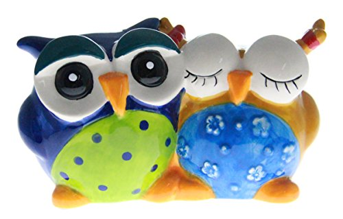JustNile Ceramic Mr. and Mrs. Owl Coin Bank
