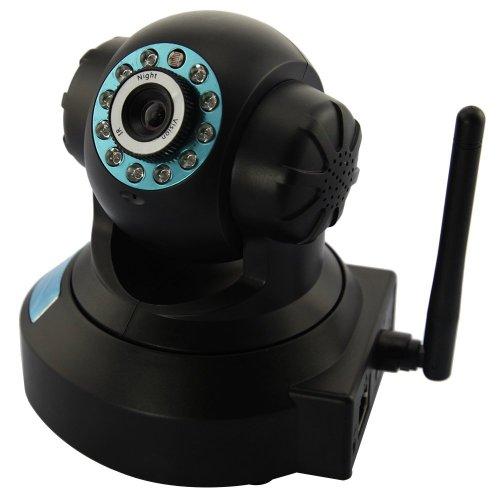 IP Kamera WiFi Lan/WLan zwei-Wege Audio Pan(270°) Tilt(90°) IP Kamera MAC / Windows / Linux kompatibel Nachtsicht, Motion Detection Alarm und I/O Alarm, Alarm per Email, FTP, Zugriff über das Internet ,unterstützt DNS Service