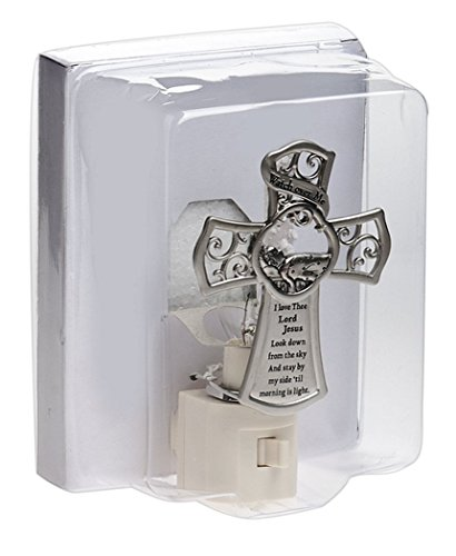 Watch Over Me 4 x 3 inch Electrical Night Light with Inspirational Cross Plate