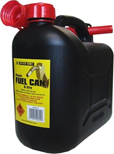Silverhook - Tanica S Style per carburante con becco, capacità 5 l, colore nero