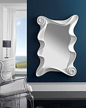 Dressing mirrors: CURVES Model white colour
