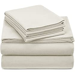 Pinzon Heavyweight Flannel Sheet Set - Queen, Cream