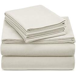 Pinzon Heavyweight Flannel Sheet Set - Queen, Cream