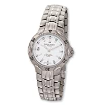 Ladies Charles Hubert Titanium White Dial Watch