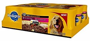 Pedigree 12-Count Meaty Ground Dinner Filet Mignon and Chopped Beef Flavor Multipack Canned Wet Food for Dogs, 13.2-Ounce, 2-Pack