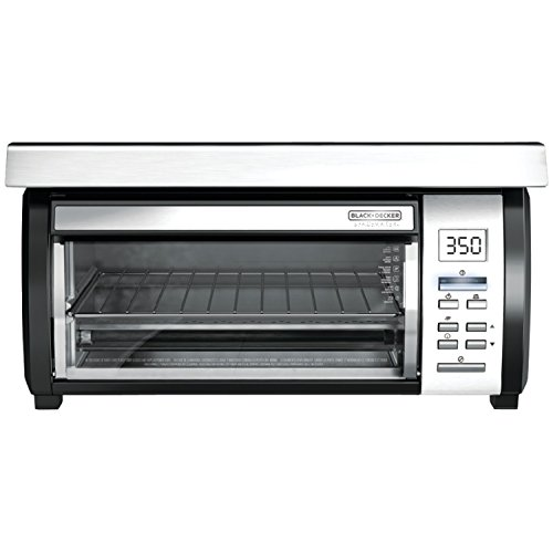 BLACK+DECKER TROS1000D Space Maker Digital Toaster Oven, Stainless Steel/Black (Under Cabinet Toaster Oven Mount compare prices)