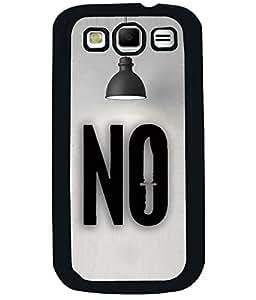 PRINTVISA Premium Metallic Insert Back Case Cover for Samsung Galaxy Grand Quattro - I8552 - D5867