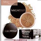Micabella Mineral Makeup Foundation #5 Cappuccino + Blush Mb3 Mocha Mist 4.5 Gram +A-viva Nail Buffer