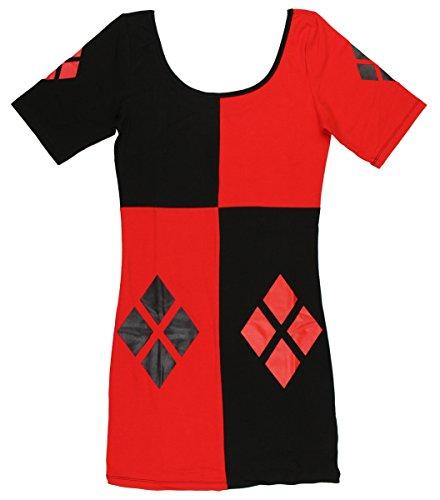 Bioworld - Abito - Donna Multicolore rosso/nero
