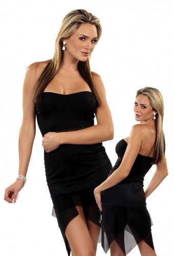 Bang! Spandex and Mesh Strapless Dress Clubwear