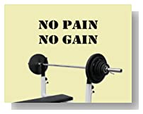 No Pain No Gain Exercise Workout Gym Health and Fitness Vinyl Lettering Wall Art Quotes Wall Decal