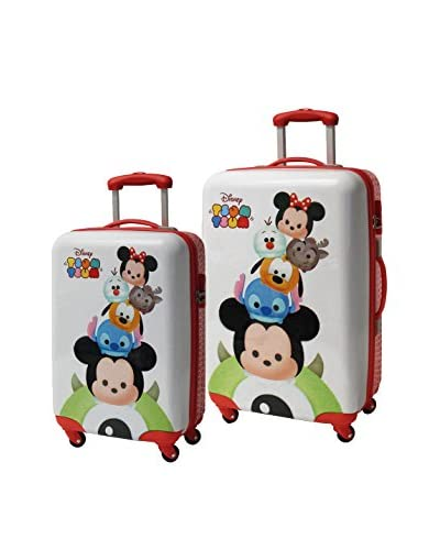 DISNEY Set 2 Trolley Rigido Tsum Tsum Stack 0 cm [Bianco]